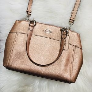 Coach Rose Gold Christie Satchel Crossbody